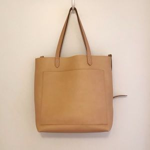 madewell medium leather transport tote bag